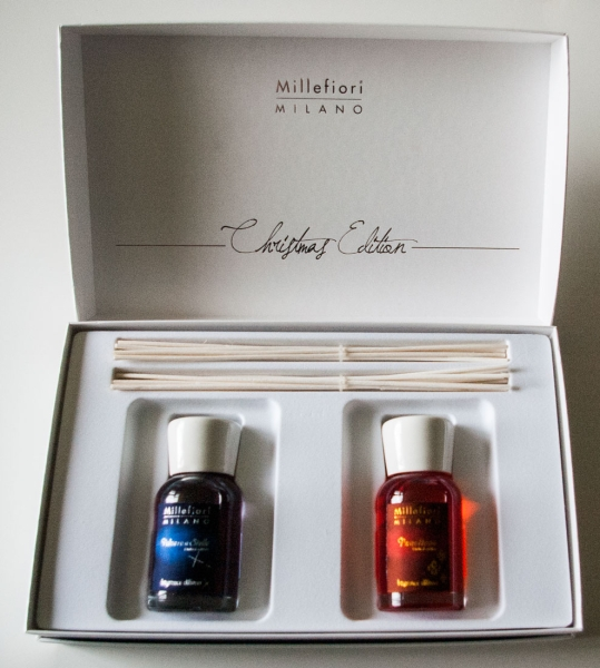 CHRISTMAS EDITION - Millefiori Duftdiffusor Set 2 x 100 ml / Raumduft